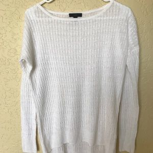 J Crew XS White Linen Sweater